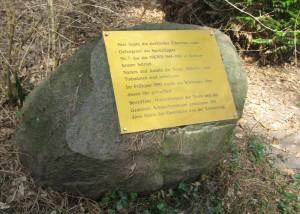 Gedenkstein Schmachtenhagener Forst
